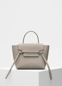Celine Light Taupe Grained Calfskin Nano Belt Bag