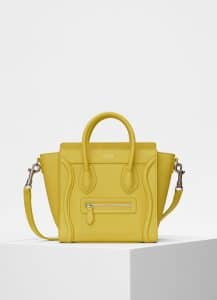 Celine Mimosa Baby Drummed Calfskin Nano Luggage Bag