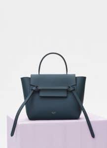 Celine Slate Grained Calfskin Nano Belt Bag