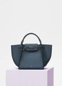 Celine Slate Smooth Calfskin Small Big Bag with Long Strap