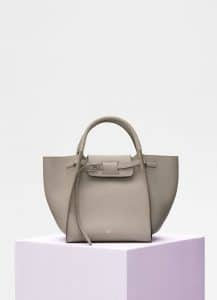 Celine Taupe Supple Grained Calfskin Small Big Bag with Long Strap
