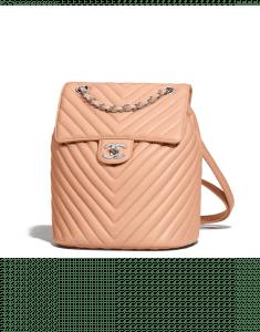 Chanel Beige Chevron Urban Spirit Small Backpack Bag