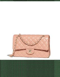 Chanel Beige Classic Flap Medium Bag