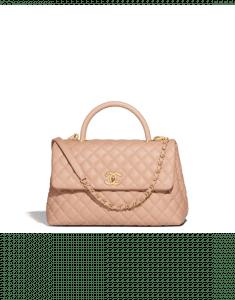 Chanel Beige Medium Coco Handle Bag
