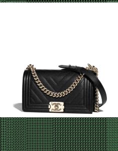 Chanel Black Boy Chevron Old Medium Flap Bag