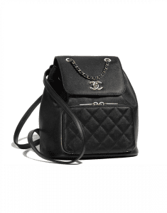 Chanel Black Business Affinity Backpack Bag
