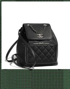 Chanel Black Business Affinity Backpack Bag