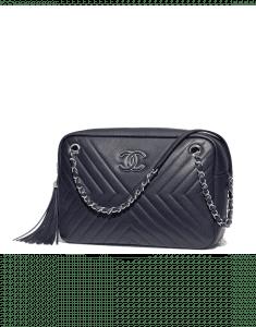 Chanel Black Calfskin Camera Case Bag