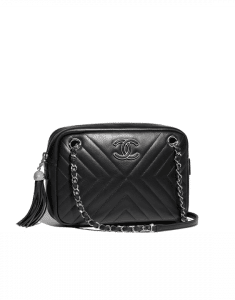 Chanel Black Calfskin Medium Camera Case Bag