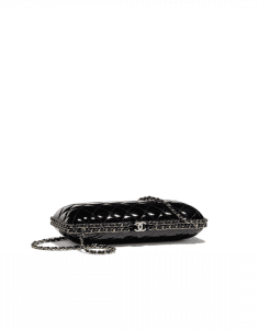 Chanel Black Patent Calfskin Evening Bag