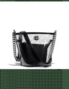 Chanel Black Printed PVC Coco Bucket Small Bag