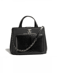 Chanel Black Python/Calfskin Business Affinity Small Shopping Bag