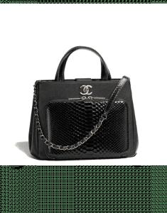 Chanel Black Python/Calfskin Business Affinity Small Shopping Bag