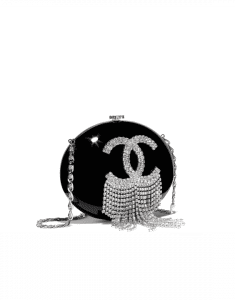 Chanel Black Resin/Strass Minaudiere Bag