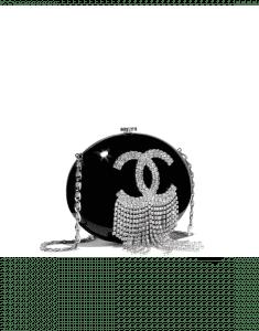 Chanel Black Resin/Strass Minaudiere Bag