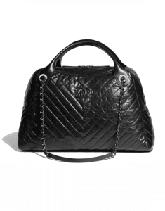 Chanel Black Soft Bowling Large Bag