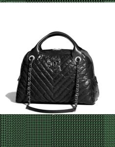 Chanel Black Soft Bowling Medium Bag