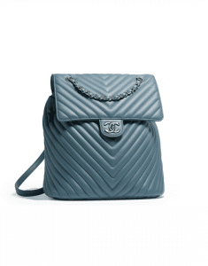 Chanel Blue Chevron Urban Spirit Large Backpack Bag
