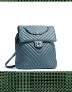 Chanel Blue Chevron Urban Spirit Large Backpack Bag