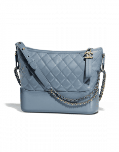 Chanel Blue Goatskin Gabrielle Hobo Bag