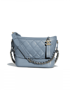 Chanel Blue Goatskin Gabrielle Small Hobo Bag