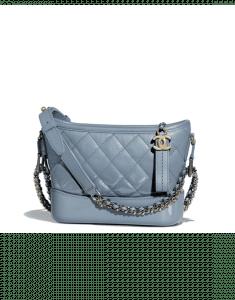 Chanel Blue Goatskin Gabrielle Small Hobo Bag