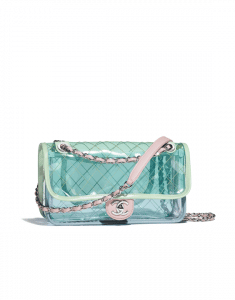 Chanel Blue/Green/Pink PVC Coco Splash Medium Flap Bag