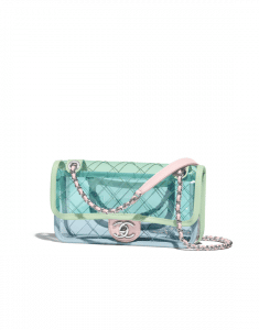 Chanel Blue/Green/Pink PVC Coco Splash Mini Flap Bag