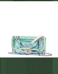 Chanel Blue/Green/Pink PVC Coco Splash Mini Flap Bag