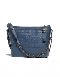 Chanel Dark Blue Alligator Gabrielle Hobo Bag