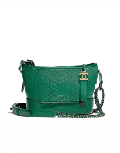 Chanel Green Python Gabrielle Small Hobo Bag