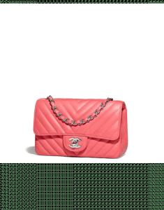 Chanel Pink Chevron Classic Flap Mini Bag
