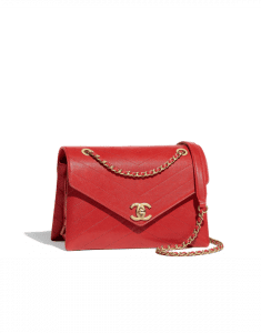 Chanel Red Lambskin Small Flap Bag