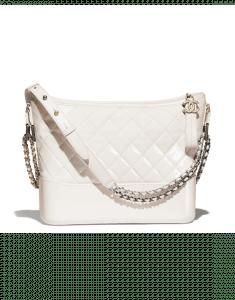 Chanel White Goatskin Gabrielle Hobo Bag