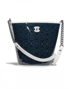 Chanel White Printed PVC Coco Bucket Large Bag