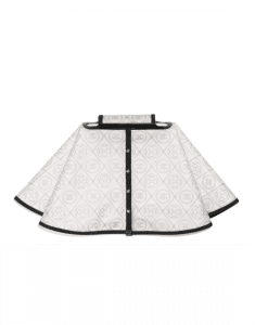 Chanel White/Black PVC Coco Raincoat