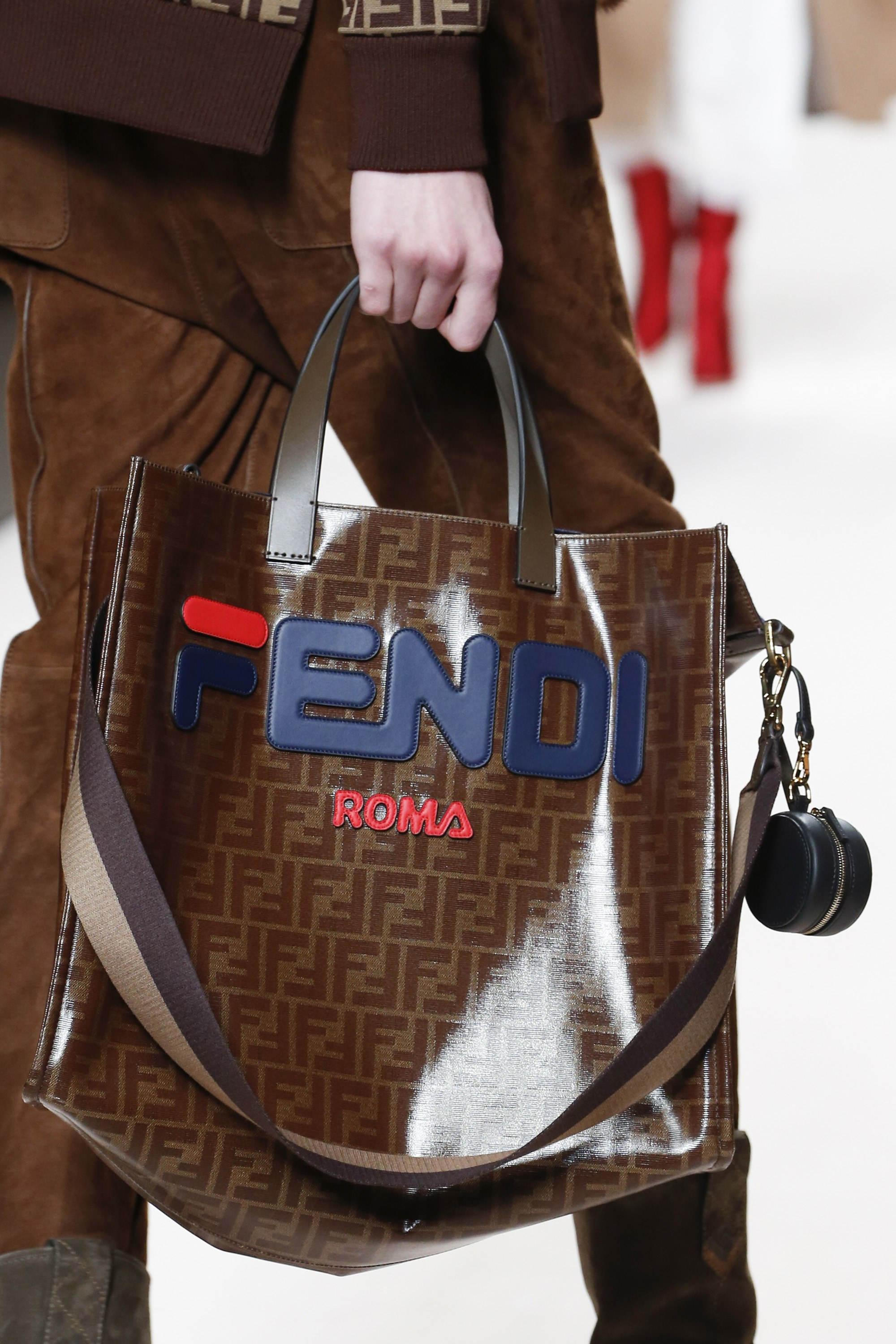 7ca28eb352 Fendi Fall Winter 2018 Runway Bag Collection and FILA