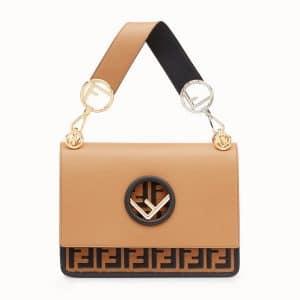 Fendi Brown/Black Logo Kan I F Bag