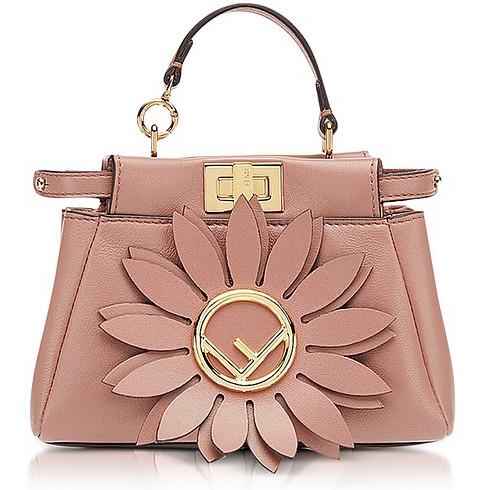 Fendi Micro Peekaboo Pink Leather Crossbody Bag