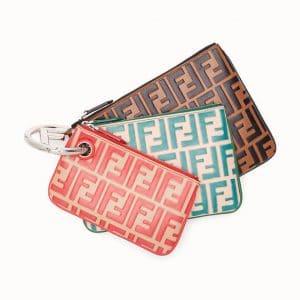 Fendi Multicolor Logo Triplette Clutch Bag