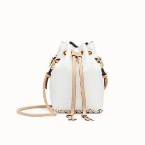 Fendi White Mon Tresor Bucket Bag
