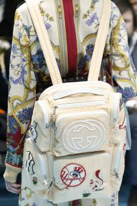 Gucci Beige Fabric with Patches Backpack Bag 2 - Fall 2018