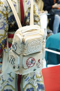 Gucci Beige Fabric with Patches Backpack Bag - Fall 2018