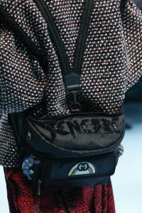 Gucci Black Fabric with Patches Backpack Bag - Fall 2018