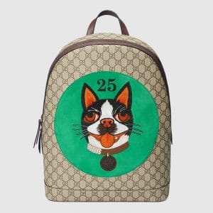 Gucci Green Bosco Patch GG Supreme Backpack Bag