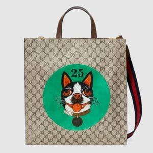 Gucci Green Bosco Patch GG Supreme Tote Bag