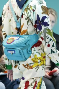 Gucci Sky Blue Fabric with Patches Backpack Bag - Fall 2018