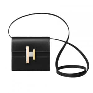 Hermes Black Cinhetic Mini Bag