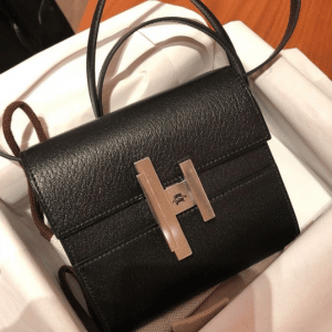 Hermes Black Mini Cinhetic Clutch Bag 2