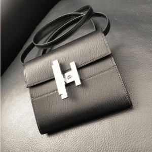 Hermes Black Mini Cinhetic Clutch Bag